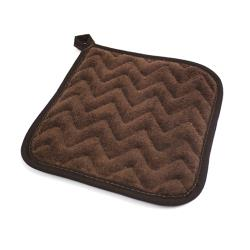 Winco - TPH-8 BROWN - 8 in x 8 in Terry Cloth Hot Pad image