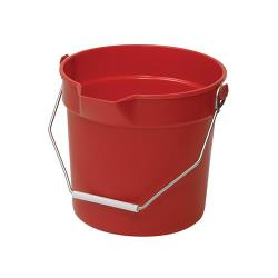 Winco - UPP-10R - 10 qt Red Utility Pail image