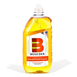 Boulder Cleaners - NEW-DISH-V-28-6CS - BOULDER® Valencia Orange Dishwashing Liquid image