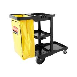 Rubbermaid - FG617388BLA - Black Janitorial Cart image