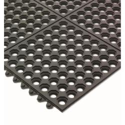 San Jamar - KM1140B - Connect-A-Mats Light Duty Black Floor Mat image