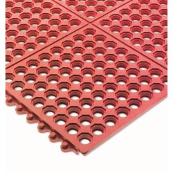 San Jamar - KM1240B - Connect-A-Mats Light Duty Red Floor Mat image