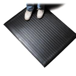 San Jamar - KM4360BK - 3ft x 60 ft Anti-Fatigue Black Floor Runner image