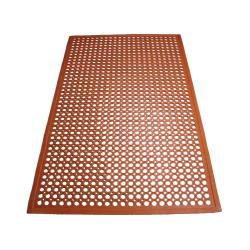 Winco - RBM-35R-R - 3 ft x 5 ft Red Floor Mat image