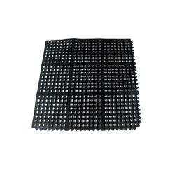 Winco - RBMI-33K - 3 ft x 3 ft Black Anti-Fatigue Floor Mat image