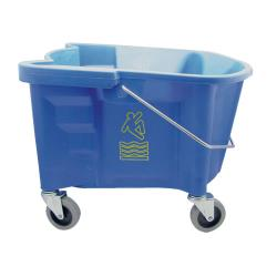 Continental Commercial - 226-3BL - 26 qt Blue Splash Guard™ Mop Bucket image