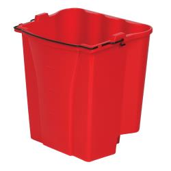 Rubbermaid - FG9C7400RED - 18 qt WaveBrake® Red Dirty Water Bucket image
