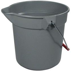 Rubbermaid - FG296300GRAY - 10 qt Round Gray Bucket image
