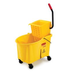 Rubbermaid - FG618688YEL - 44 qt WaveBrake® Mop Bucket and Wringer Set image