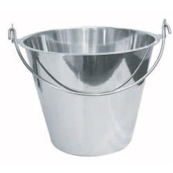 Winco - UP-13 - 13 qt Stainless Steel Pail image
