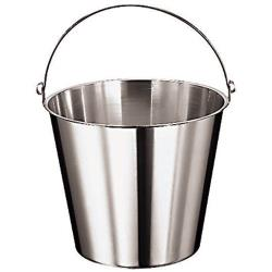 "World Cuisine - 41960-12 - 10 5/8"" Deep Stainless Kitchen Pail image"