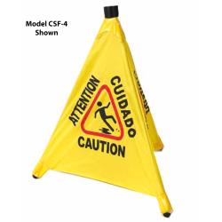 Winco - CSF-4 - 4-Facet Caution Sign image