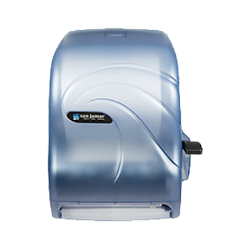 San Jamar - T1190TBL - Oceans Blue Lever Roll Towel Dispenser  image