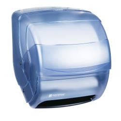 San Jamar - T850TBL - Integra Blue Lever Roll Towel Dispenser image