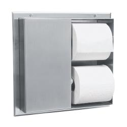 Bobrick - B-386 - Partition-Mount Multi-Roll Toilet Tissue Dispenser image