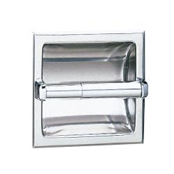 Bobrick - B-6677 - Recessed Single Roll Toilet Tissue Dispenser with Satin Finish image