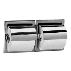 Bobrick - B-6997 -  Double Roll Toilet Tissue Dispenser w/Satin Finish & Hood image