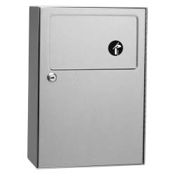 Bobrick - B-254 - ClassiceSeries™ Surface-Mounted Sanitary Napkin Disposal Unit image