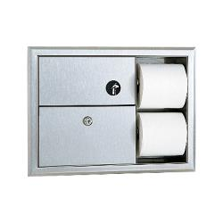 Bobrick - B-3094 - ClassicSeries™ Napkin Disposal & Toilet Paper Dispenser image