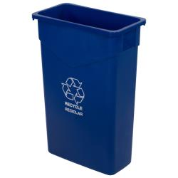 Carlisle - 342023REC14 - 23 gal TrimLine™ Blue Recycle Can image