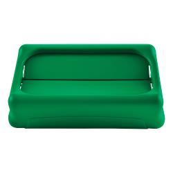 Rubbermaid - 1829400 - Green Slim Jim® Swing Lid image