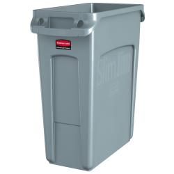 Rubbermaid - 1971258 - 16 gal Gray Slim Jim® Trash Can image