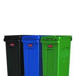 Rubbermaid - 3 Slim Jim® Set for Trash, Recycling, and Compost image