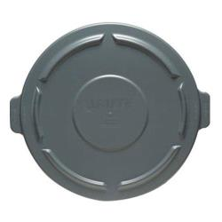 Rubbermaid - FG263100GRAY - 32 gal Gray Brute® Round Trash Can Lid image