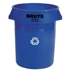Rubbermaid - FG263273BLUE - 32 gal Brute® Recycling Can image