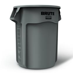 Rubbermaid - FG265500GRAY - 55 gal Round Gray Brute® Trash Can image