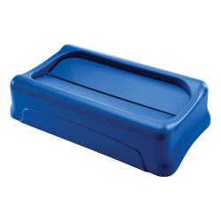 Rubbermaid - FG267360BLUE - Blue Slim Jim® Swing Lid image