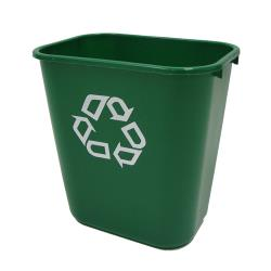 Rubbermaid - FG295606GRN - 28 qt Green Recycling or Compost Can image