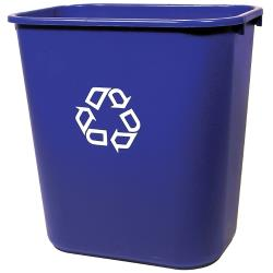 Rubbermaid - FG295673BLUE - 28 qt Blue Deskside Recycling Bin image