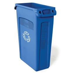 Rubbermaid - FG354007BLUE - 23 gal Slim Jim® Recycling Bin with Handles image