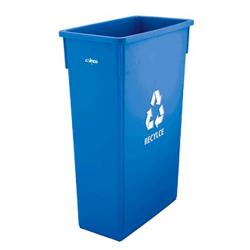 Winco - PTC-23L - 23 gal Slender Recycle Trash Can image