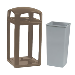 Rubbermaid - FG397500SBLE - 50 gal Sable Landmark Series® Trash Can image