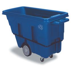 Continental Manufacturing - 5840-1 - 750 Lb Blue Recycling Standard Duty Tilt Truck image