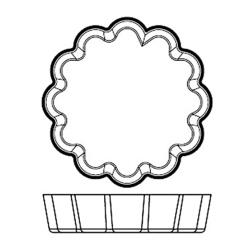 World Cuisine - 47786-09 - Silicone Fluted Tartlet Mold image