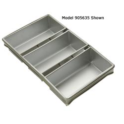 Focus Foodservice - 904235 - (3) 8 1/2 in x 4 1/2 in Strapped Bread Pan Set image