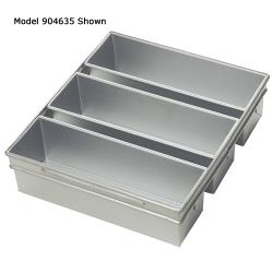 Focus Foodservice - 904635 - (3) 13 in x 4 in Strapped Pullman Pan Set image