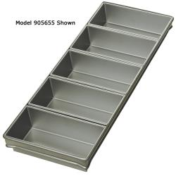 Focus Foodservice - 905655 - (5) 9 in x 4 1/2 in Strapped Bread Pan Set image