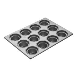 Focus Foodservice - 903555 - (12) 3 1/2 in Large Crown Muffin Pan image