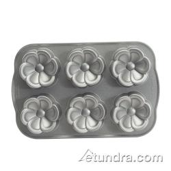 Nordic Ware - 83602 - Commercial Grade (6) Flower Cakelet Pan image