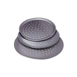 Allied Metal Spinning - TN14 - 14 in Round Aluminum Pizza Pan with Nibs image