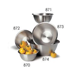 Focus Foodservice - 871 - 4 qt Stainless Steel Mixing Bowl   image