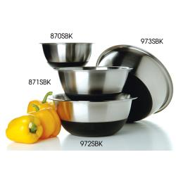 Focus Foodservice - 871SBK - 4 qt Silicone Base Mixing Bowl image