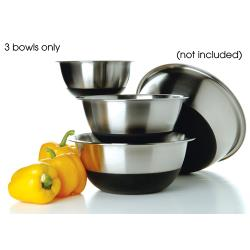 Focus Foodservice - 875SBK - Silicone Base Mixing Bowl Set image