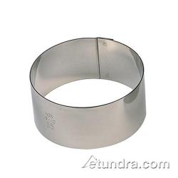 "World Cuisine - 47425-03 - 2 3/8"" Round Stainless Pastry Rings image"