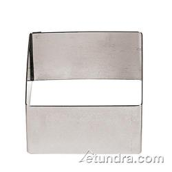 "World Cuisine - 47425-05 - 2 3/8"" Square Stainless Pastry Rings image"