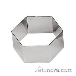 "World Cuisine - 47425-30 - 2 3/8"" Hexagon Stainless Pastry Rings image"